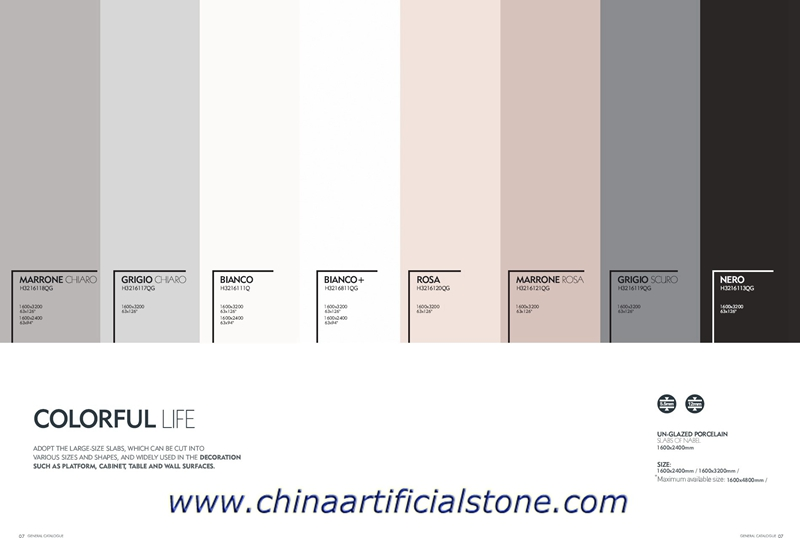 Pure Color Largest Format Porcelain Slabs