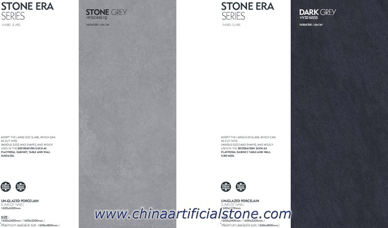 Grey Sintered Stone Countertop Slabs