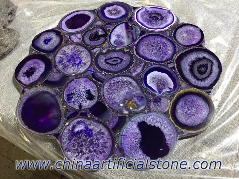 Purple Agate Table Tops
