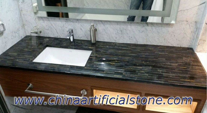 Blue Tiger Eye Bathroom Vanity Tops