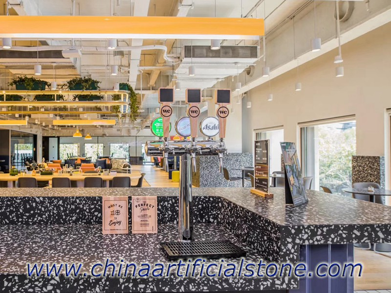 Black Terrazzo Worktop countertop for WEWORK