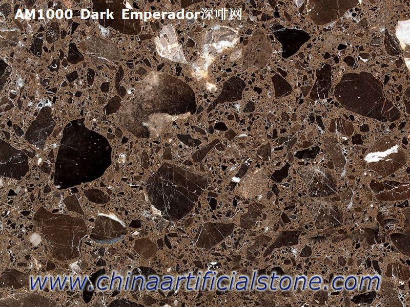 Dark Emperador Artificial Marble