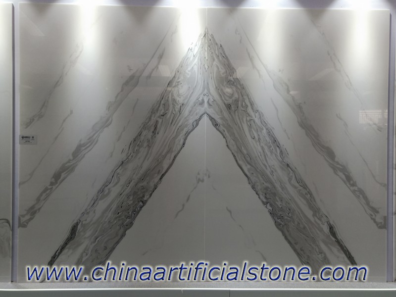 Bookmatched Artificial White Onyx Slabs