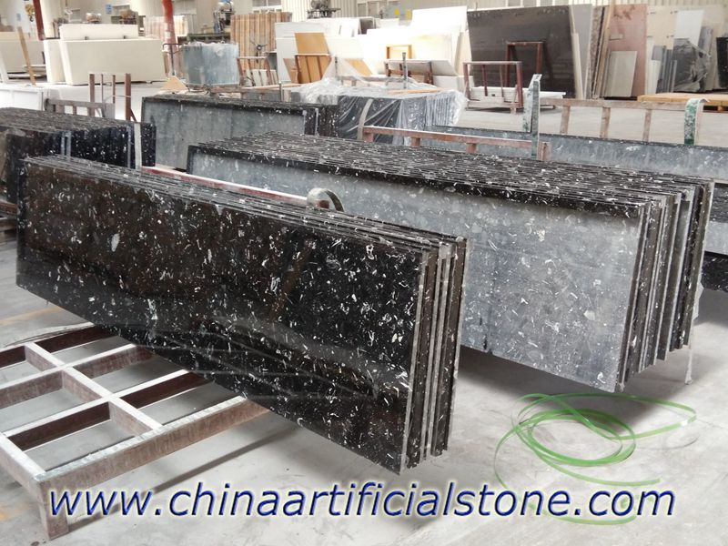 Man Made Nero Marquina Marble Countertops