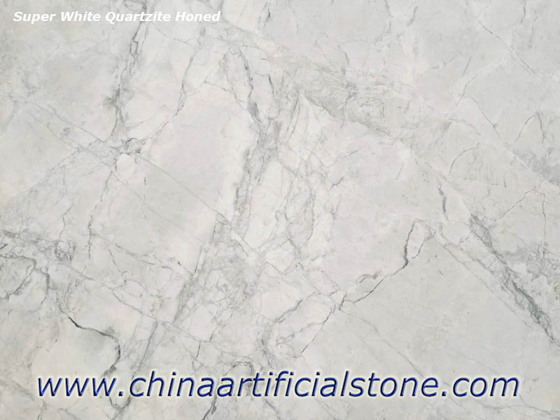 Supper White Quartzite Honed Close up