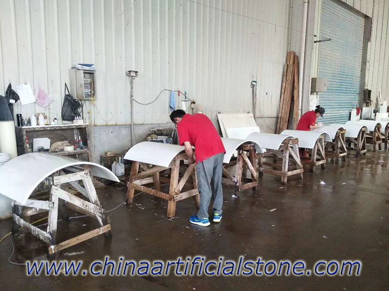 Nano Crystallized Glass Columns Panels fabrication