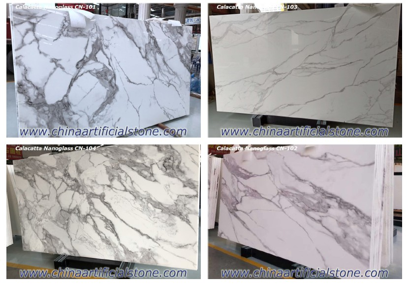 Nano Quartz Calacatta Nanoglass Slabs Colors
