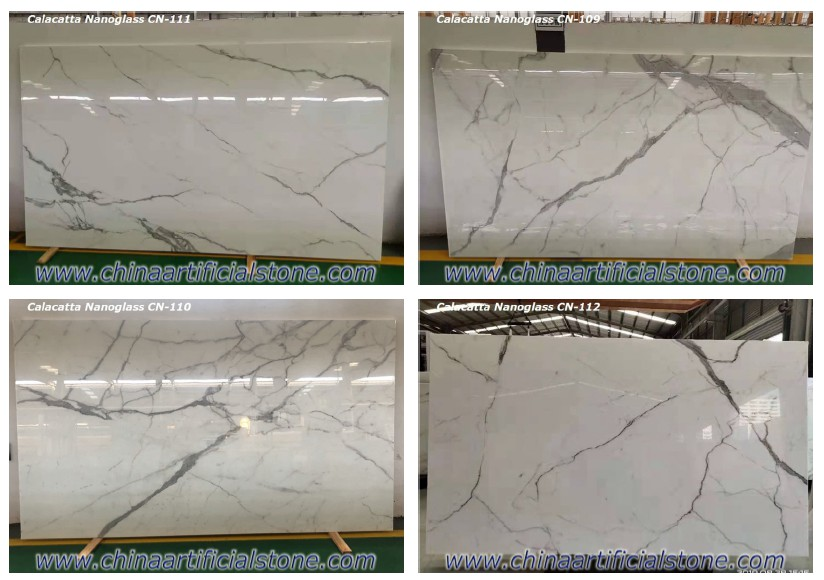 Calacatta White 3D Printing Marble Looking Stone Slabs