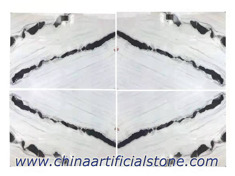 Panda White Marble Book Matched