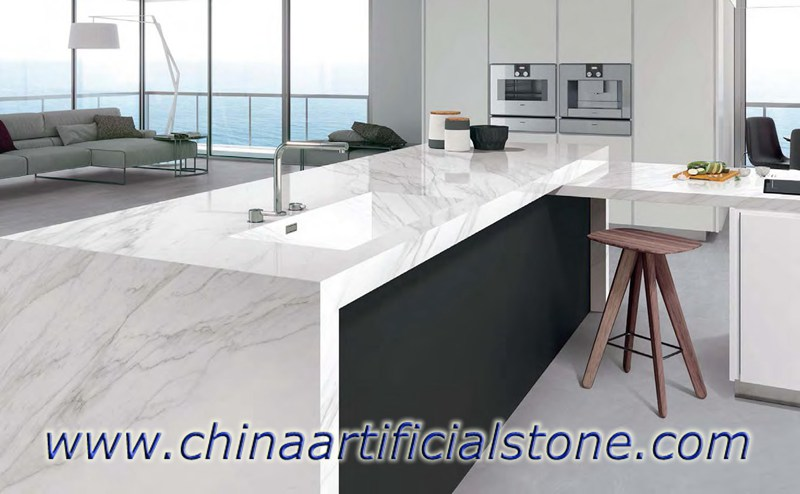White Marble Look Sintered Stone Countertops