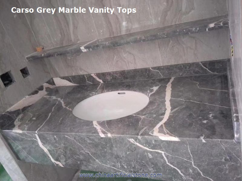 Carso Grey Marble Vanity Top