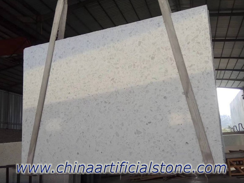 Terrazzo Slabs with Big White Marble Aggregate