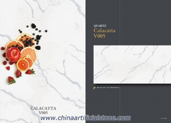 Calacatta Gold Quartz Slabs for Countertops