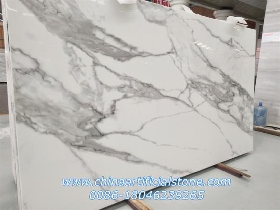 Engineered Calacatta Nano White Marble Slab
