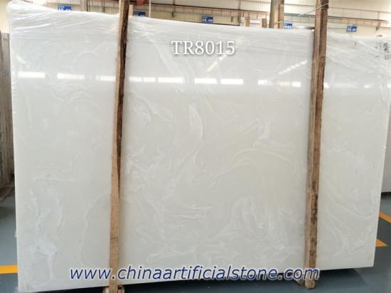 Backlit Pure White Artificial Onyx Stone Panel