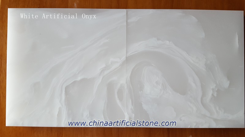 Backlit Pure White Artificial Onyx Stone Panels