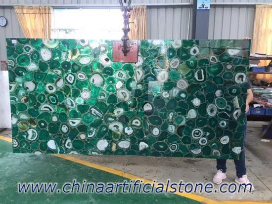 Green Agate Slabs
