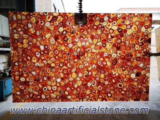 Red Agate Slabs