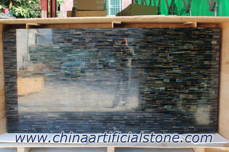 Blue Tiger Eye Semi Precious Stone Gemstone  Slabs