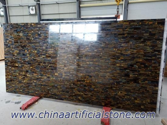 Tiger Eye Blue and Gold Precious Stone Slabs