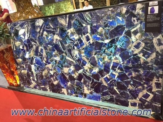 Blue Sodalite Gemstone Tiles Slabs