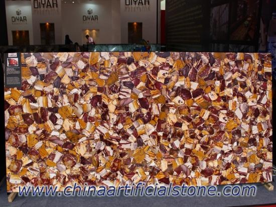 Multi Red Jasper Gemstone Tiles Slabs