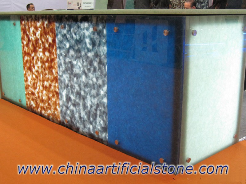 Ocean Blue Slabs Engineered Recycled Magna Glass Surface