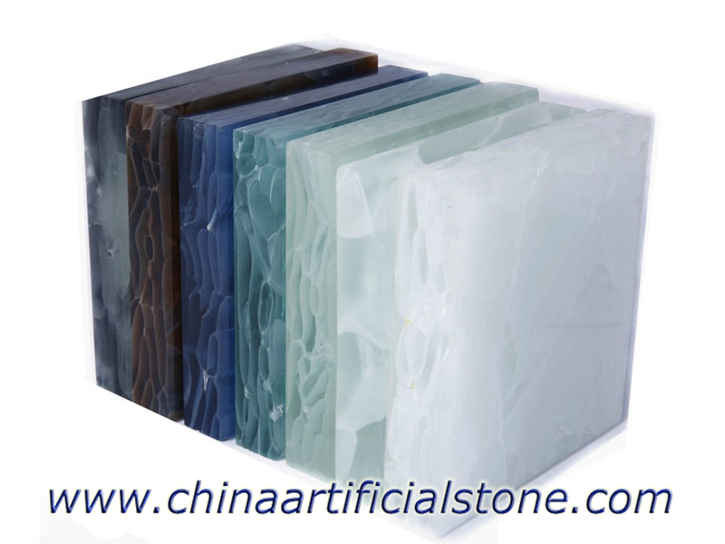 Jade Glass Stone Translucent Recycled Glass Stone Panels