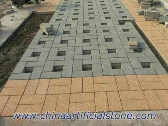 Water Pervious Sideways Driveways Pavers