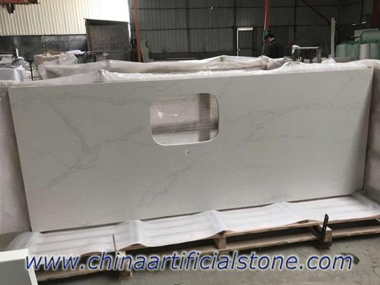 Calacatta Gold Quartz Kitchen Countertops