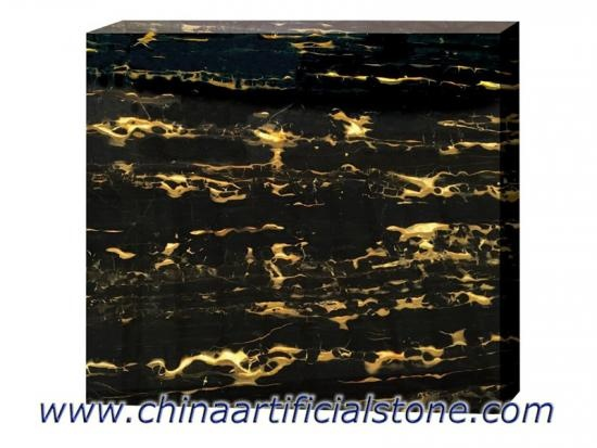 Nero Portoro Marble Black with Gold Slabs and  Tiles