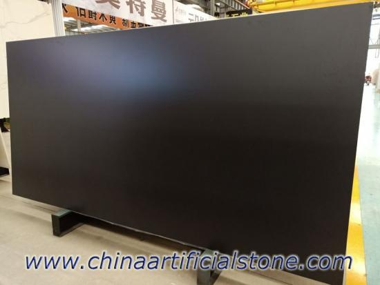 Large Format Basalt Black Porcelain Matt Slab