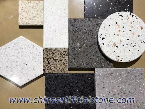 Bespoke Terrazzo Floor Tiles White Terrazzo Grey Terrazzo
