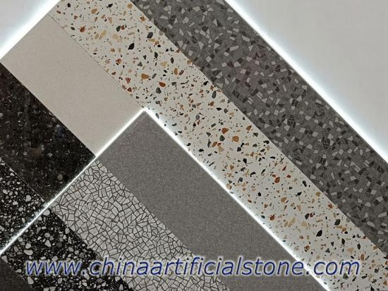 Large Aggregate Terrazzo Look Porcelain Tile