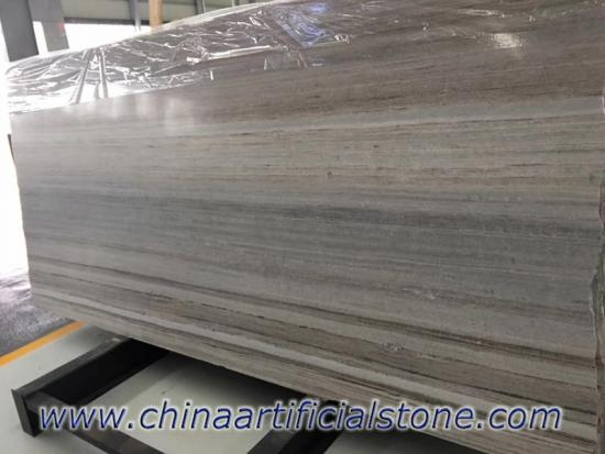 China Palissandro Blue Wood Vein Grain Marble Slab