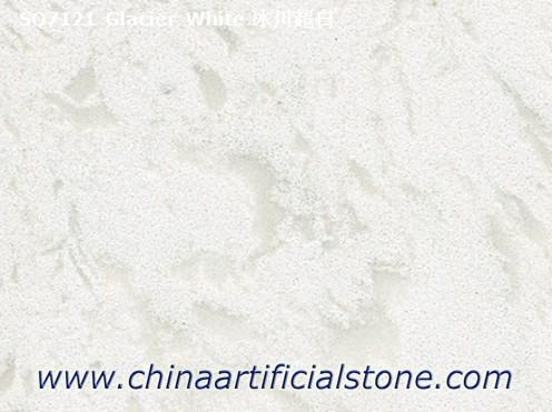 Glacier White Marble Look Quartz Slabs