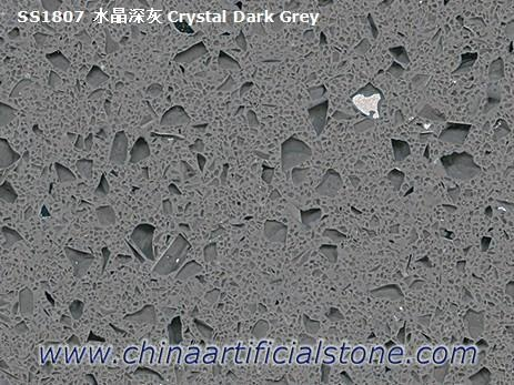 Dark Grey Starlight Quartz Stone