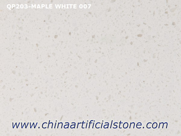 Maple White Quartz Stone Slabs for Countertops