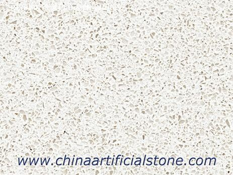 Beach White Glacier White Quartz Slab for Worktop