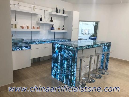 Blue Agate Kitchen Countertops