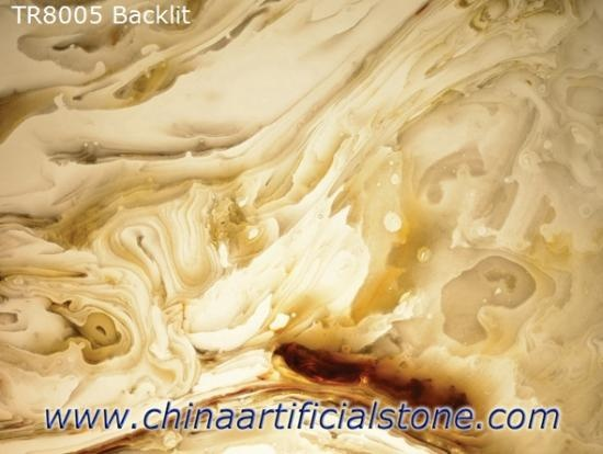 Engineered Translucent Onyx Backlit Stone Sheets