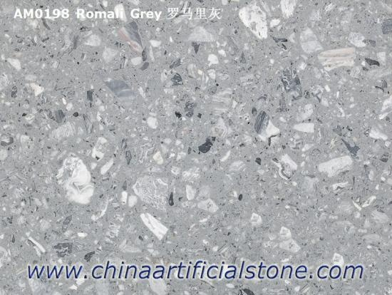 Engineered Grey Marble with Large Marble Aggregate