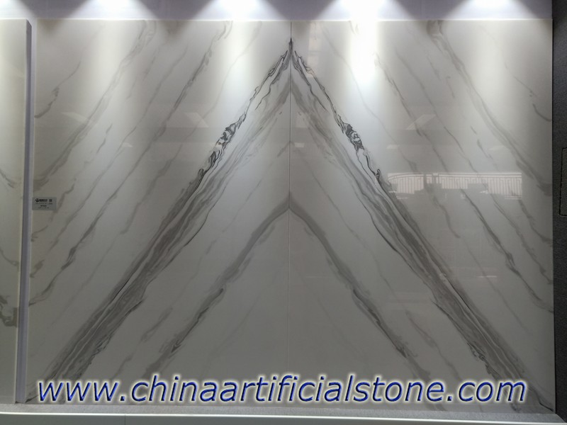 Bookmatched Artificial Faux White Onyx Stone Sheets