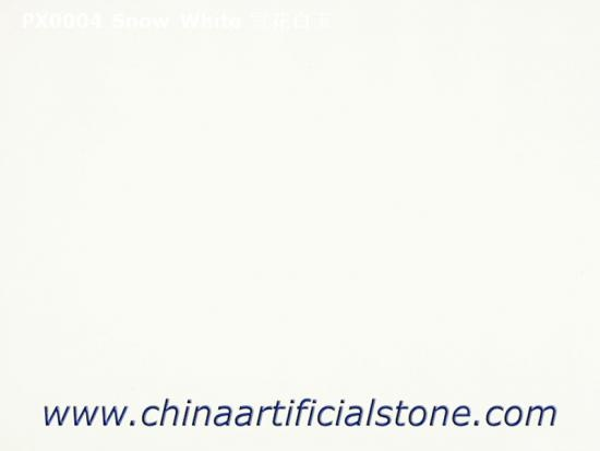 Crystal White Artificial Marble Slabs and Tiles