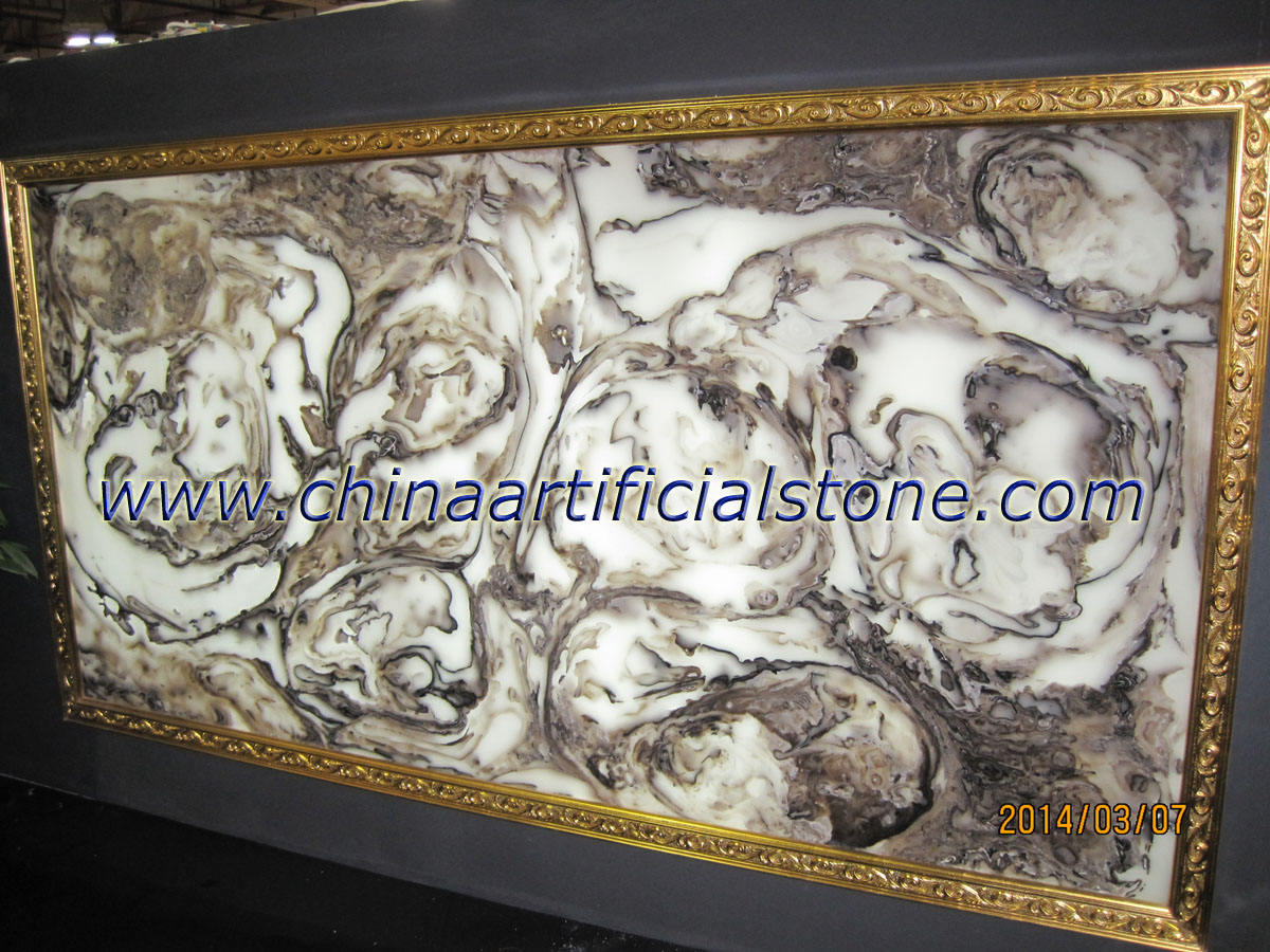 Artificial Faux Brown Onyx Sheet Backlit Wall Panels