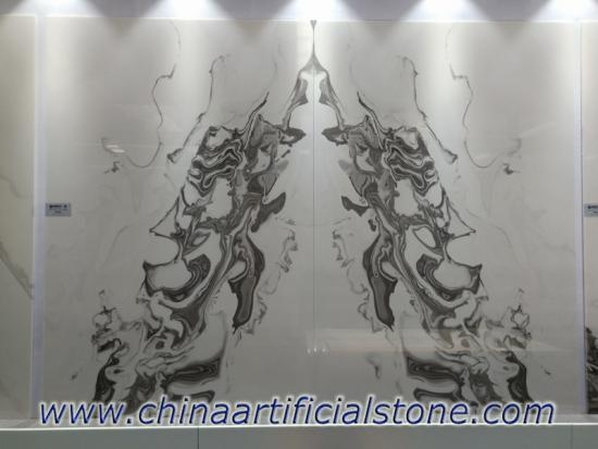 Bookmatched Artificial Faux White Onyx Stone Sheet