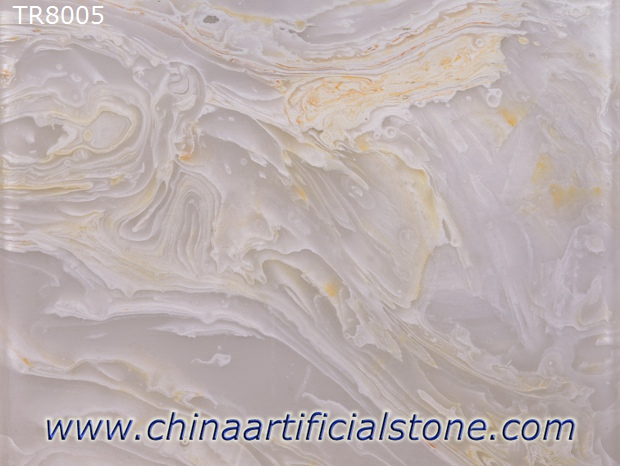 Engineered Translucent White Onyx Stone Sheets