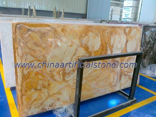 Artificial Translucent Faux Onyx Stone Slabs TO8001