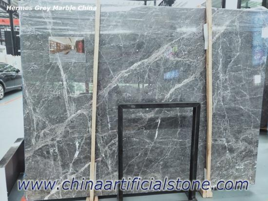 Hermes Grey Marble China Grey with White Veins Marble Slab
