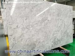 Supper White Quartzite Grey Marble Slabs